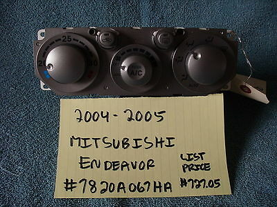 2004-2007 Mitsubishi Endeavor Brand New Oem Climate Control Assembly Celsius