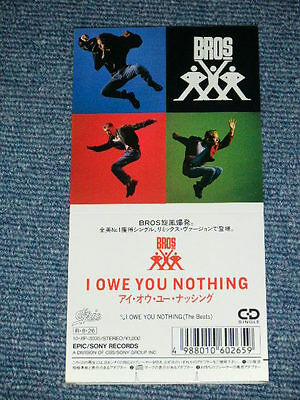 """BROS. Japan Only 1988 NM Tall 3""""inch CD Single I OWE YOU NOTHING"""