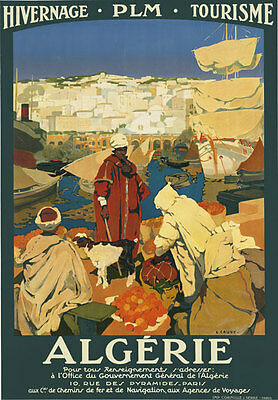 TA49 Vintage French Algerie Algerian Algeria Travel Poster Re-Print A4