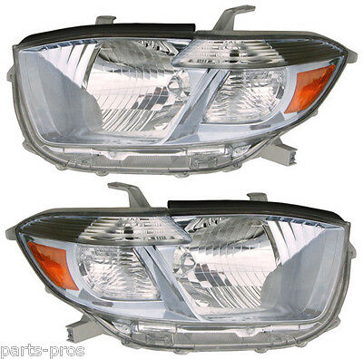 New Replacement Headlight Assembly PAIR / FOR 2008-2010 TOYOTA HIGHLANDER HYBRID