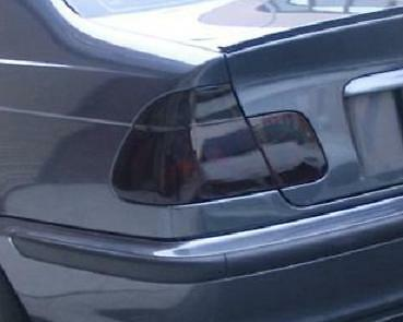 98-05 Bmw E46 3 Series Sedan Smoke Tail Light Precut Tint Cover Smoked Overlays