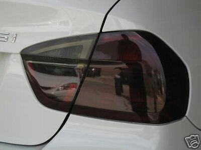 06-08 Bmw E90 3 Series Sedan Smoke Tail Light Precut Tint Cover Smoked Overlays