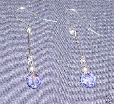 Beautiful Lilac Crystal Art Deco Style Drop Earrings