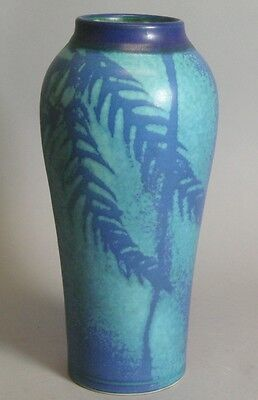 "Superb Antique 11"" Art & Crafts Pottery Vase  c. 1920  American  Impressed Mark"