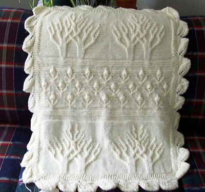 Apple Tree Pattern Baby Blanket Knitting Pattern DK 24