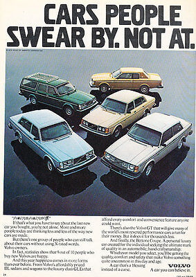 1980 Volvo GT 242 264 265 262C Coupe - Classic Vintage Advertisement Ad D23