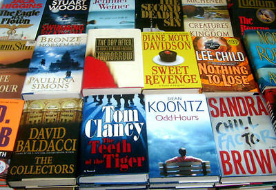 MIXED FICTION HARDCOVER BOOK LOT - Popular/Best Selling Authors - FREE SHIPPING