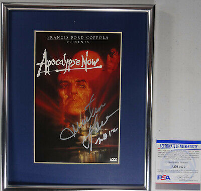 Signed Apocalypse Now Autographed Martin Sheen Dvd Framed W/pic