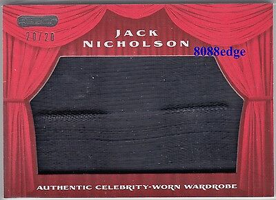 2010 Pop Century Celebrity Worn Wardrobe: Jack Nicholson #20/20 Jumbo Swatch