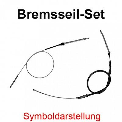 @ VW TRANSPORTER T4 2 x HANDBREMSSEIL BREMSSEIL LINKS RECHTS SET KIT HINTEN HA