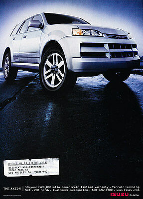 2002 Isuzu Axiom - road - Classic Vintage Advertisement Ad H01