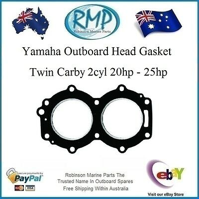 A Brand New Yamaha Outboard Twin Carby Head Gasket 2cyl 20hp-25hp # 6L2-11181-A1