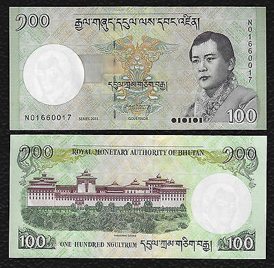 Bhutan P-32b 2011 100 Ngultrum-Crisp Uncirculated