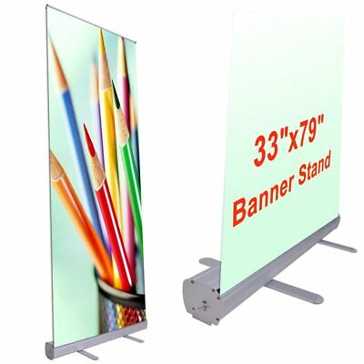 """Professional 33""""x79"""" Retractable Roll Up Banner Stand Trade Show Signage Display"""