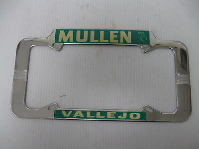 MULLEN MOTOR CO. VALLEJO CA. BUICK   License Plate Frame NOS Tag topper