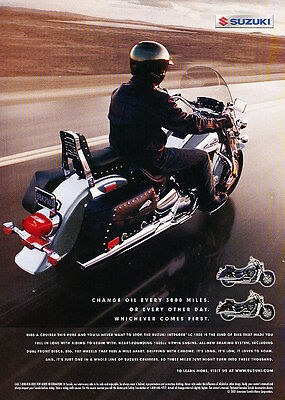 2001 Suzuki Motorcycle - Cruiser - Classic Vintage Advertisement Ad D32