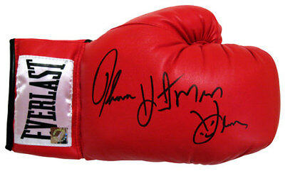 Thomas Hearns Hand Signed Boxing Glove With Exact Proof