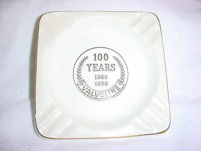 Ab- 23K 100 Years 1866 -1966 Valoline Ashtray Souvenir