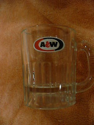 Fa-  Vintage Glass A&w Root Beer Small Mug
