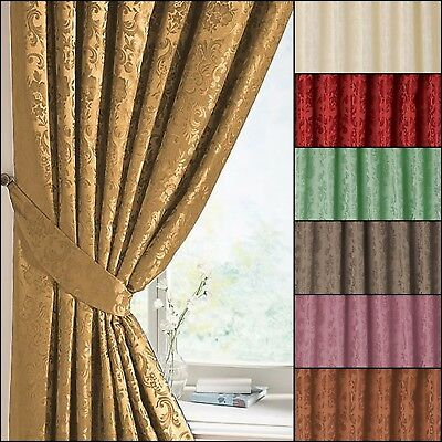 A Pair Of Lana Damask Tie Backs In Multiple Colours Matching Curtains Available