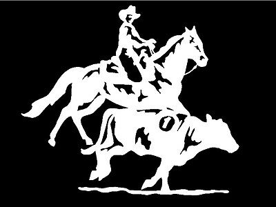 Team Penning Rodeo Decal Horse Trailer car truck window vinyl sticker graphic