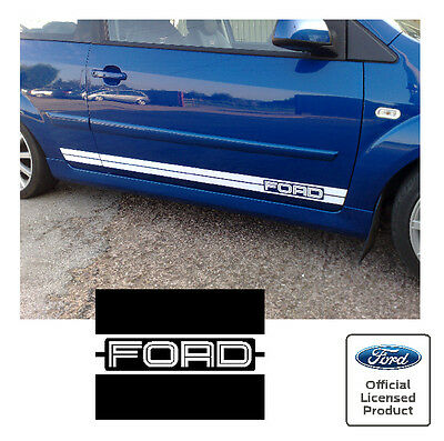 Ford Fiesta Mk6 GT Style Side Twin Stripes Stickers Decals FORD Logo ST 500