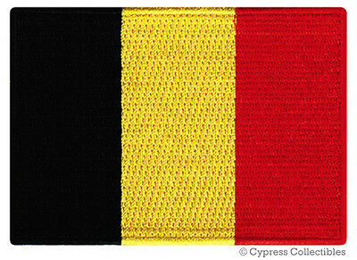 BELGIUM FLAG embroidered iron-on PATCH BELGIAN EMBLEM souvenir applique