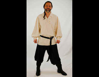 DRESS LIKE A PIRATE BRAND SOFT FLOWING PIRATE PANT w/pockets~ Sm - 6X + XL-TALL