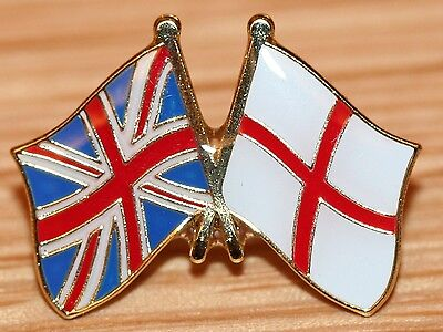UK & ENGLAND St George FRIENDSHIP Flag Metal Lapel Pin Badge Great Britain