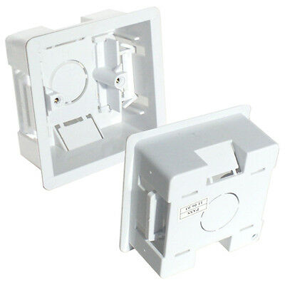 5x 35mm Deep Single Plastic Dry Lining Back Box-1 Gang Wall Flush Mount Pattress