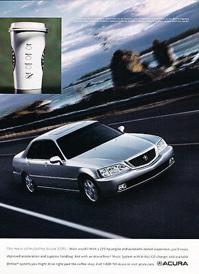 2001 2002 Acura 3.5RL - Coffee - Classic Vintage Advertisement Ad D40