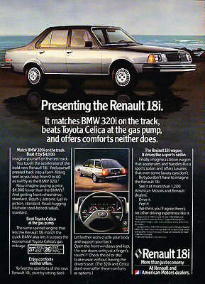 1981 Renault 18i - Presenting - Classic Vintage Advertisement Ad D42