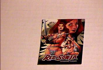 RED SONJA #4 PHILLY NON SPORTS SHOW SPECIAL PROMO CARD  BREYGENT VF/NM