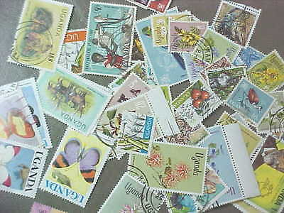 50 Different Uganda Stamp Collection - Lot