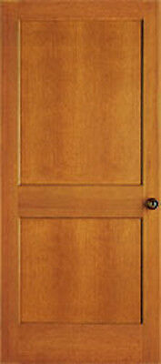 2 Panel Flat Mission Shaker Hemlock Stain Grade Solid Core Interior Wood Doors