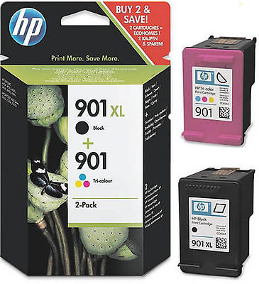 2 Hp 901 Original Tinte Patrone Officejet J4500 J4524 J4535 J4540 J 4550 Sd519Ae