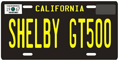 Mustang Shelby GT 500 California 1967 License plate