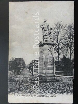 c1904 - South African War Memorial, ALLOA - postmark ALLOA cds
