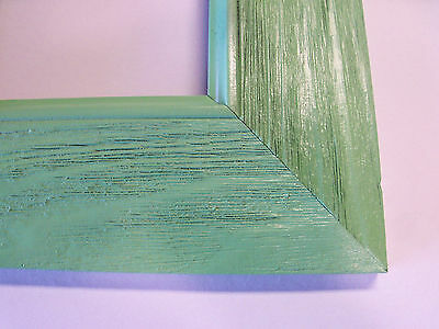 """3.3"""" Wide Westwood Apple Green Canvas Picture Frame-Custom Made Square Size"""