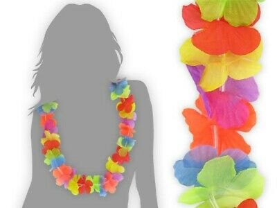 48 Stk. Hawaiiketten Hula Blumen-Kette Beach-Party Fest Feier Set Deko Hawai 01
