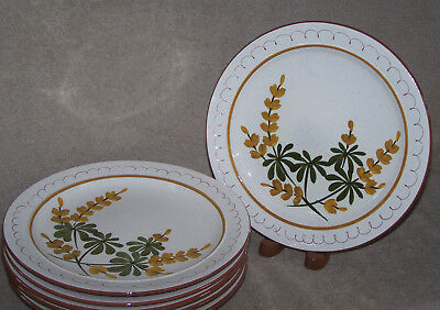 Stangl Golden Blossom 2 Dinner Plates - multiple pairs available