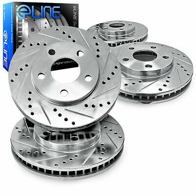 2 FRONTS Black Hart *DRILLED /& SLOTTED* Disc Brake Rotors F1968