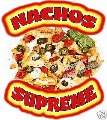 "Nachos Supreme Decal 8"" Chips Concession Trailer Food Truck Menu Vinyl Sticker"