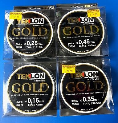 Grauvell Teklon Gold Fishing Line - All Sizes -Breaking Strains