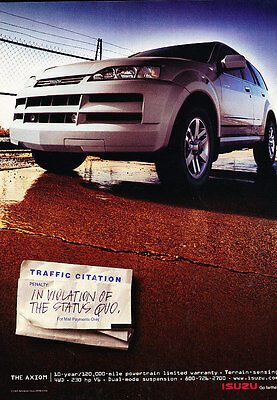 2001 Isuzu Axiom - Citation - Classic Vintage Advertisement Ad D65
