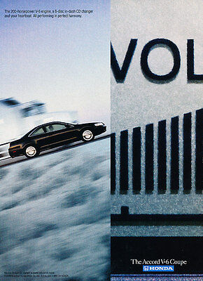 2001 Honda Accord - V-6 Coupe - Onstar - Classic Vintage Advertisement Ad D65