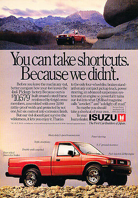 1988 Isuzu Trucks - Shortcuts - Classic Vintage Advertisement Ad D66