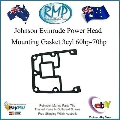 A Brand New Power Head Mounting Gasket Johnson Evinrude 3cyl 60hp-70hp# 329828