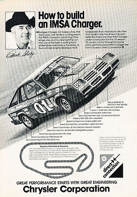 1982 IMSA Charger Dodge Shelby Race - 1983 Classic Vintage Advertisement Ad D70