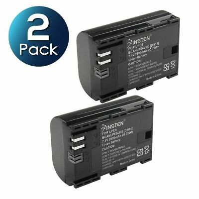 2x LP-E6 Battery Pack For Canon EOS 5D Mark II 60Da 5D Mark III LPE6 2800mAh